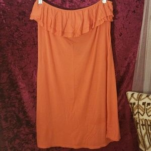Coral coverup strapless coverup